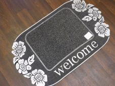NON SLIP DOORMAT 75X45CM RUBBER BACKING GOOD QUALITY NICE DESIGN TWO COLOURS